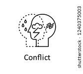 human internal conflict in mind ... | Shutterstock .eps vector #1240375003