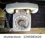 retro office phone. soft focus. | Shutterstock . vector #1240382620