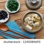 korean food soybean paste stew  ... | Shutterstock . vector #1240384693