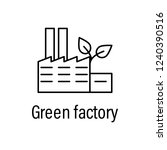 factory  energy outline icon... | Shutterstock .eps vector #1240390516
