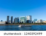 scenery along the sumida river | Shutterstock . vector #1240392499