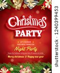 merry christmas party and... | Shutterstock .eps vector #1240399453