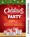 merry christmas party and... | Shutterstock .eps vector #1240399486