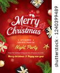 merry christmas greeting card... | Shutterstock .eps vector #1240399489