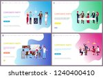 corporate party  businessman... | Shutterstock .eps vector #1240400410