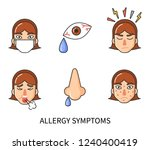allergy symptoms of person... | Shutterstock .eps vector #1240400419