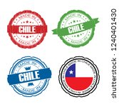 stamp made in chile label set... | Shutterstock .eps vector #1240401430