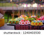 The Colorful Of Krathong Is...
