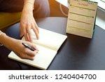 calendar management schedule is ... | Shutterstock . vector #1240404700