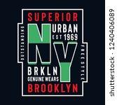 new york brooklyn genuine wears  | Shutterstock .eps vector #1240406089