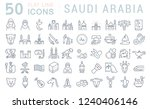 set of vector line icons of... | Shutterstock .eps vector #1240406146