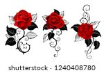 three artistically painted red... | Shutterstock .eps vector #1240408780