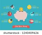 plan your money infographic....   Shutterstock .eps vector #1240409626