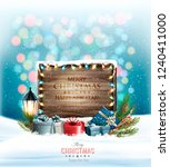 christmas holiday background... | Shutterstock .eps vector #1240411000