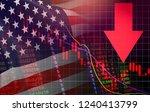 usa. america stock market... | Shutterstock . vector #1240413799