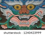 pattern of buddhist temple door | Shutterstock . vector #1240423999