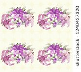 seamless floral pattern with... | Shutterstock .eps vector #1240427320