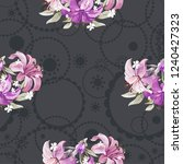seamless floral pattern with... | Shutterstock .eps vector #1240427323
