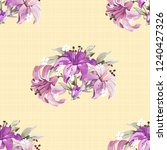 seamless floral pattern with... | Shutterstock .eps vector #1240427326