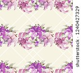 seamless floral pattern with... | Shutterstock .eps vector #1240427329