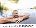 portrait of a young handsome...   Shutterstock . vector #1240430806