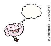 cartoon laughing brain | Shutterstock .eps vector #124043464