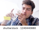 drug addict sniffing cocaine... | Shutterstock . vector #1240440880