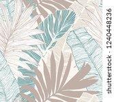 nature seamless pattern. hand... | Shutterstock .eps vector #1240448236