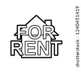 house for rent icon | Shutterstock .eps vector #1240451419