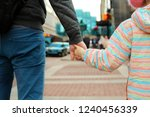 father holding  the daughter ... | Shutterstock . vector #1240456339