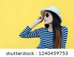 sunny lifestyle fashion... | Shutterstock . vector #1240459753