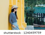 sunny lifestyle fashion... | Shutterstock . vector #1240459759