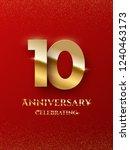 10 years anniversary... | Shutterstock .eps vector #1240463173