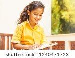 pretty indian little girl... | Shutterstock . vector #1240471723