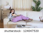 young relaxed woman in... | Shutterstock . vector #124047520
