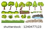 set of nature element for... | Shutterstock .eps vector #1240477123