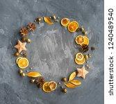 christmas background... | Shutterstock . vector #1240489540