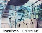 industrial ventilation  air... | Shutterstock . vector #1240491439