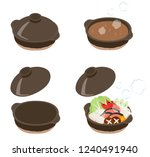 a set of pot dishes | Shutterstock .eps vector #1240491940