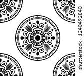 flower shaped mandala  black... | Shutterstock .eps vector #1240492840