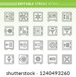 safe thin line icon set....   Shutterstock .eps vector #1240493260