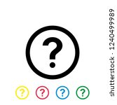 question vector icon on white... | Shutterstock .eps vector #1240499989