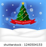 merry christmas and happy new... | Shutterstock .eps vector #1240504153