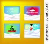 merry christmas and happy new... | Shutterstock .eps vector #1240504156