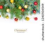 christmas background. happy new ... | Shutterstock . vector #1240504549