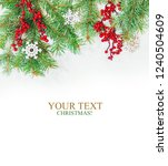 christmas background. happy new ... | Shutterstock . vector #1240504609
