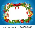 frame of christmas greeting... | Shutterstock .eps vector #1240506646