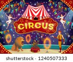 circus show with trained... | Shutterstock .eps vector #1240507333