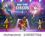 big top circus show of animal... | Shutterstock .eps vector #1240507336