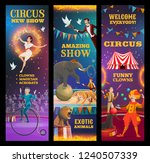circus show  vector invitation... | Shutterstock .eps vector #1240507339